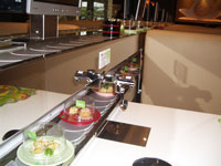 kaiten sushi conveyor, transporter, slider, fully-featured classic kaiten, second level, two-store